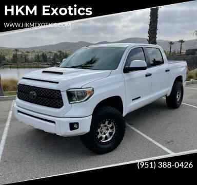 2018 Toyota Tundra for sale at HKM Exotics in Corona CA