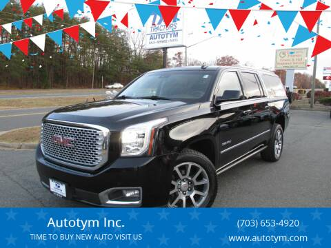 2015 GMC Yukon XL for sale at AUTOTYM INC in Fredericksburg VA