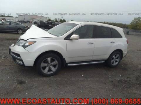 2012 Acura MDX for sale at East Coast Auto Source Inc. in Bedford VA