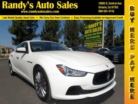 2017 Maserati Ghibli for sale at Randy's Auto Sales in Ontario CA