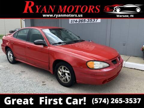 2004 Pontiac Grand Am for sale at Ryan Motors LLC in Warsaw IN