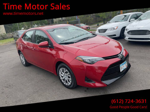 2019 Toyota Corolla for sale at Time Motor Sales in Minneapolis MN