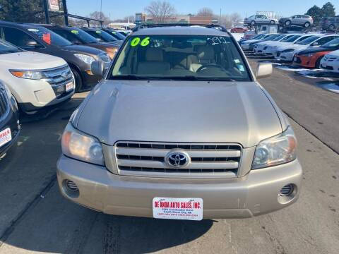 2006 Toyota Highlander for sale at De Anda Auto Sales in South Sioux City NE