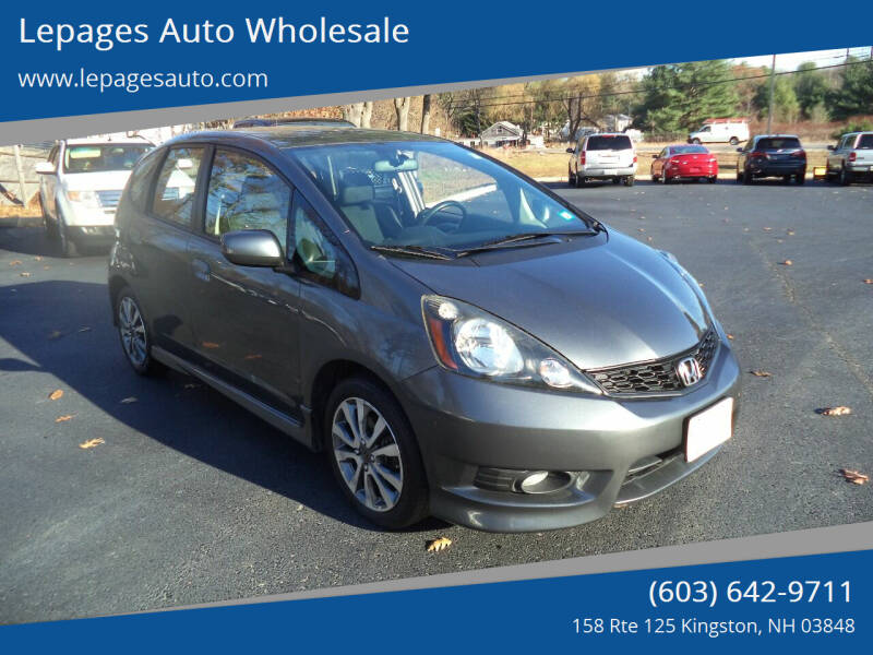 2013 Honda Fit for sale at Lepages Auto Wholesale in Kingston NH