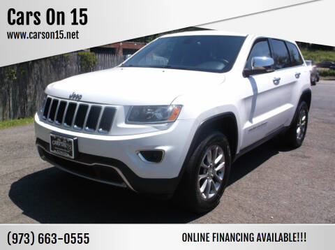 2014 Jeep Grand Cherokee for sale at Cars On 15 in Lake Hopatcong NJ