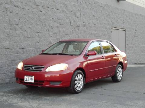 2003 Toyota Corolla for sale at Gilroy Motorsports in Gilroy CA