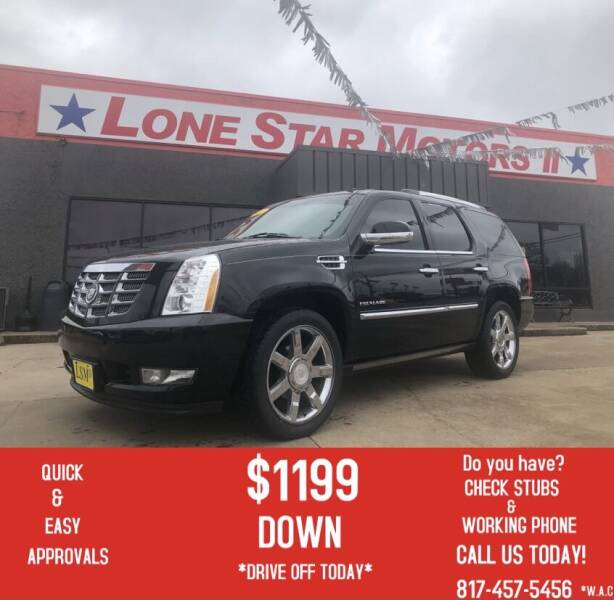 2012 Cadillac Escalade for sale at LONE STAR MOTORS II in Fort Worth TX