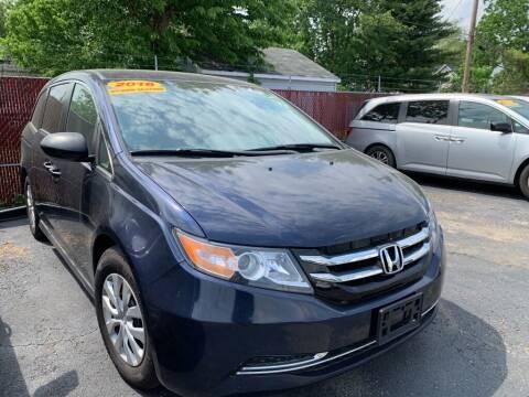 2016 Honda Odyssey for sale at Eagle Motors in Hamilton OH