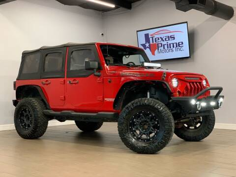 2009 Jeep Wrangler Unlimited for sale at Texas Prime Motors in Houston TX