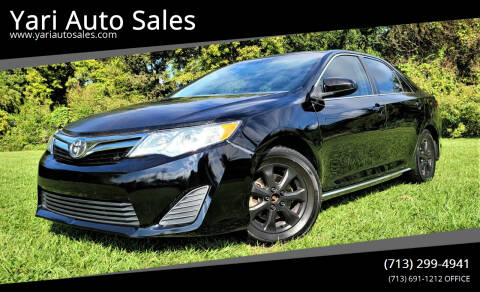 2013 Toyota Camry for sale at Yari Auto Sales in Houston TX