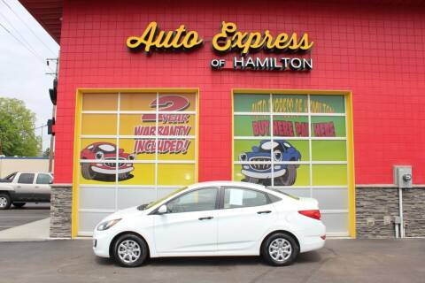 2012 Hyundai Accent for sale at AUTO EXPRESS OF HAMILTON LLC in Hamilton OH