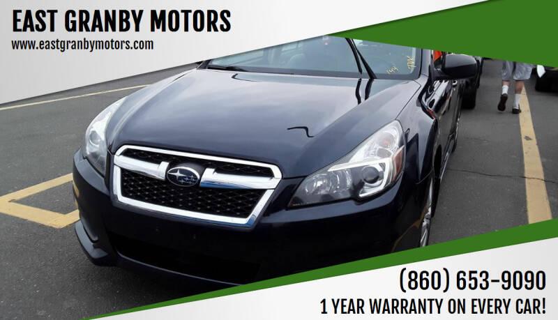 2013 Subaru Legacy for sale at EAST GRANBY MOTORS in East Granby CT