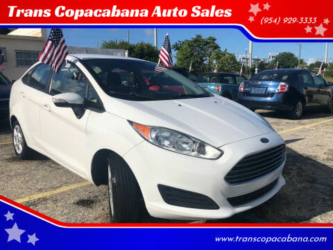 2014 Ford Fiesta for sale at Trans Copacabana Auto Sales in Hollywood FL
