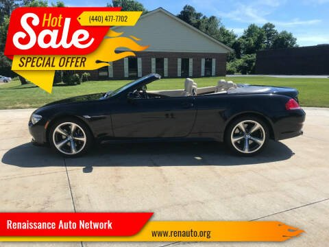 2009 BMW 6 Series for sale at Renaissance Auto Network in Warrensville Heights OH