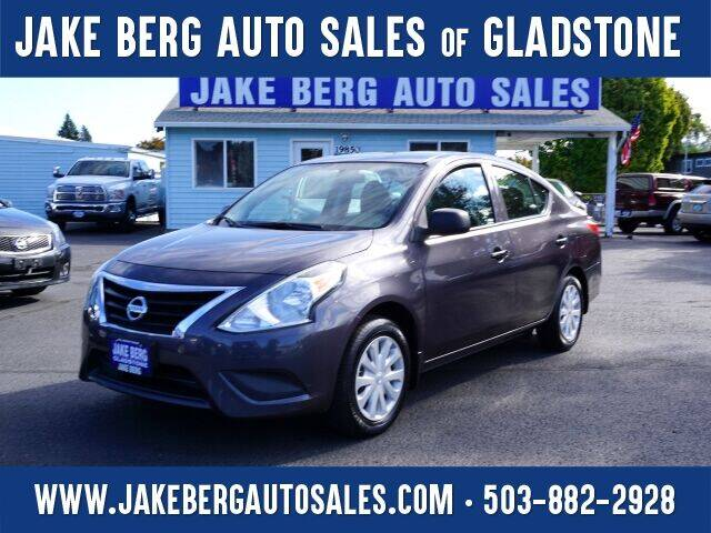 2015 Nissan Versa for sale at Jake Berg Auto Sales in Gladstone OR