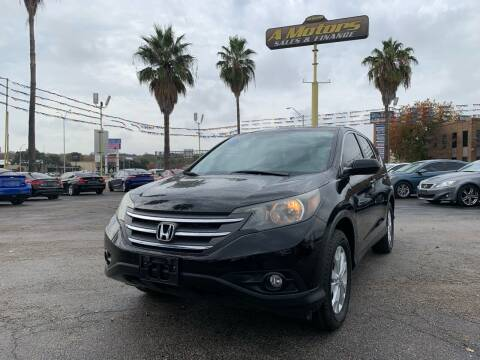 2012 Honda CR-V for sale at A MOTORS SALES AND FINANCE in San Antonio TX