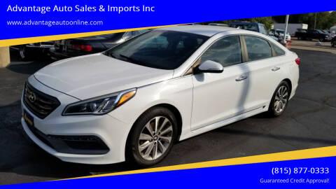 2015 Hyundai Sonata for sale at Advantage Auto Sales & Imports Inc in Loves Park IL