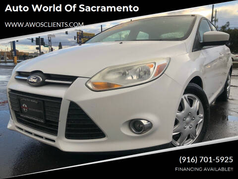 2012 Ford Focus for sale at Auto World of Sacramento Stockton Blvd in Sacramento CA