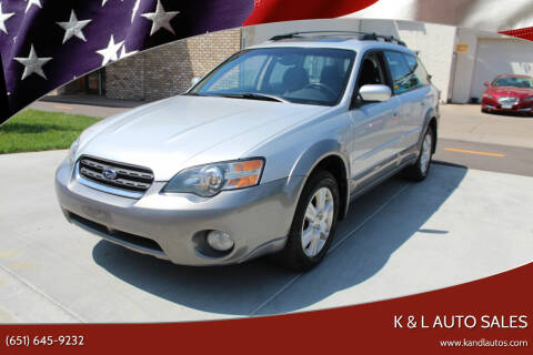 2005 Subaru Outback for sale at K & L Auto Sales in Saint Paul MN