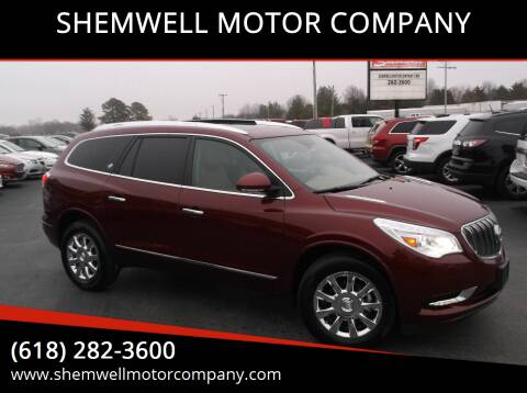 2015 Buick Enclave for sale at SHEMWELL MOTOR COMPANY in Red Bud IL