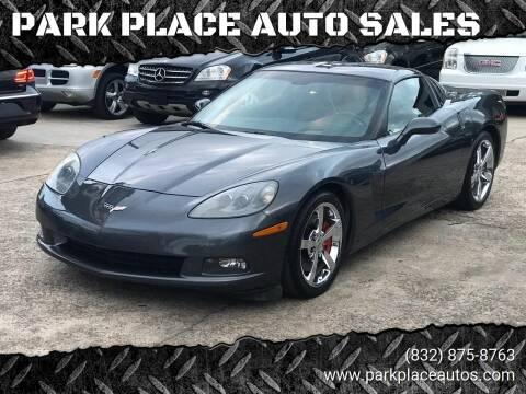 2009 Chevrolet Corvette for sale at PARK PLACE AUTO SALES in Houston TX