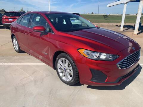 2019 Ford Fusion Hybrid for sale at JOHN HOLT AUTO GROUP, INC. in Chickasha OK