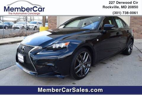 2016 Lexus IS 300 for sale at MemberCar in Rockville MD