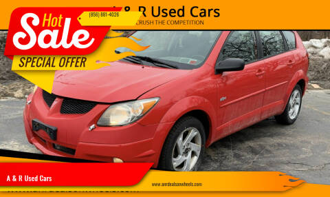 2003 Pontiac Vibe for sale at A & R Used Cars in Clayton NJ