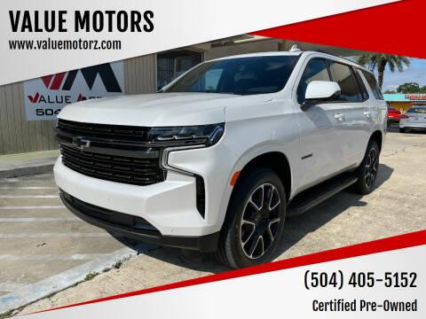 2021 Chevrolet Tahoe for sale at VALUE MOTORS in Kenner LA