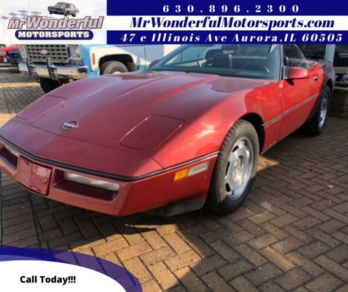 1988 Chevrolet Corvette for sale at Mr Wonderful Motorsports in Aurora IL