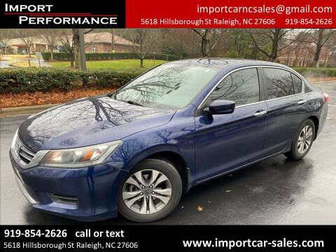 2014 Honda Accord for sale at Import Performance Sales in Raleigh NC