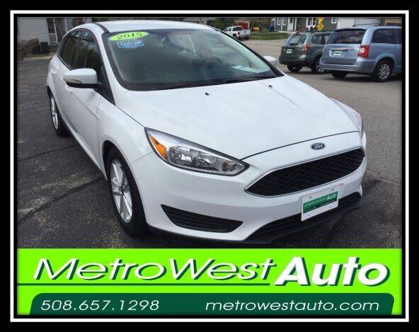 2015 Ford Focus for sale at Metro West Auto in Bellingham MA