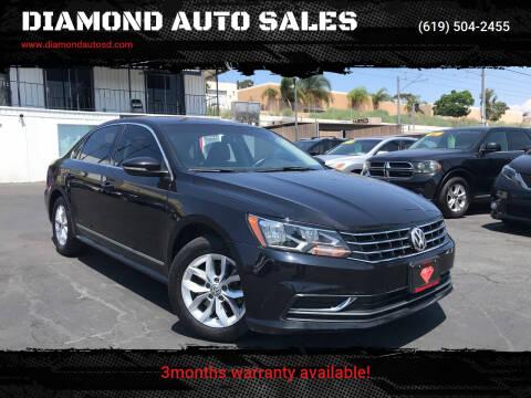 2017 Volkswagen Passat for sale at DIAMOND AUTO SALES in El Cajon CA