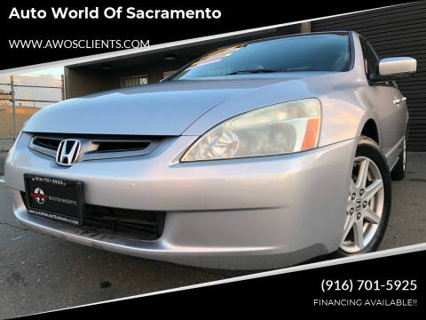 2004 Honda Accord for sale at Auto World of Sacramento Stockton Blvd in Sacramento CA