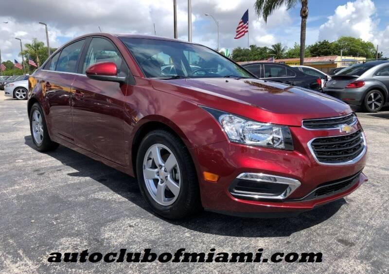 2015 Chevrolet Cruze for sale at AUTO CLUB OF MIAMI in Miami FL