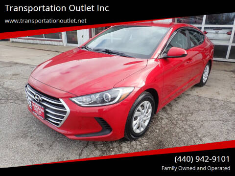 2017 Hyundai Elantra for sale at Transportation Outlet Inc in Eastlake OH