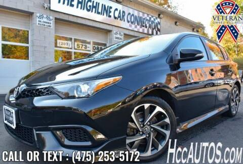 2017 Toyota Corolla iM for sale at The Highline Car Connection in Waterbury CT