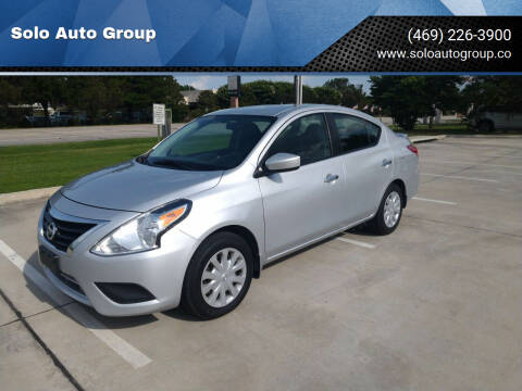 2018 Nissan Versa for sale at Solo Auto Group in Mckinney TX