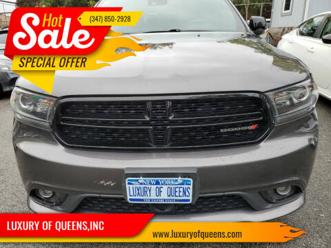 2016 Dodge Durango for sale at LUXURY OF QUEENS,INC in Long Island City NY
