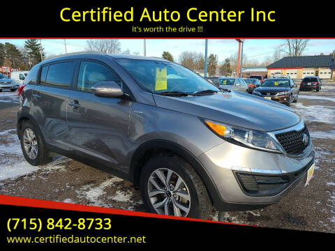 2015 Kia Sportage for sale at Certified Auto Center Inc in Wausau WI