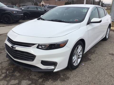 2017 Chevrolet Malibu for sale at One Price Auto in Mount Clemens MI