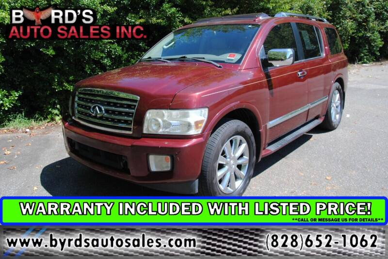 2009 Infiniti QX56 for sale at Byrds Auto Sales in Marion NC