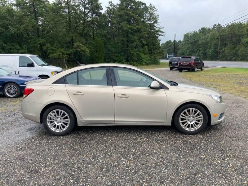 2012 Chevrolet Cruze for sale at MIKE B CARS LTD in Hammonton NJ