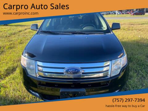2007 Ford Edge for sale at Carpro Auto Sales in Chesapeake VA