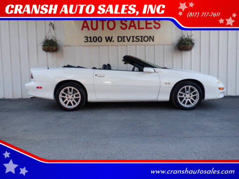 2002 Chevrolet Camaro for sale at CRANSH AUTO SALES, INC in Arlington TX