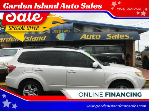 2010 Subaru Forester for sale at Garden Island Auto Sales in Lihue HI