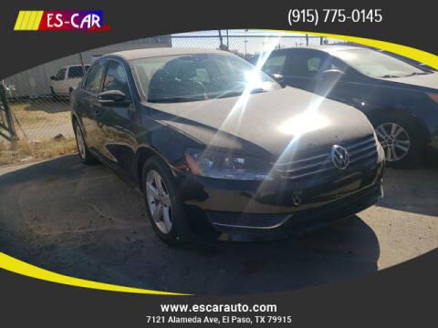 2015 Volkswagen Passat for sale at Escar Auto in El Paso TX