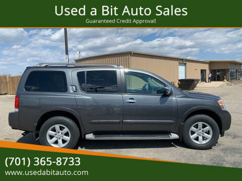 2012 Nissan Armada for sale at Used a Bit Auto Sales in Fargo ND
