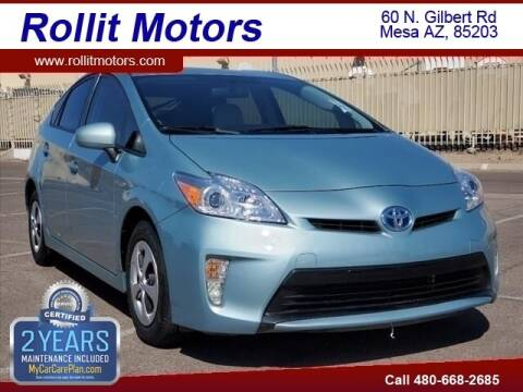 2015 Toyota Prius for sale at Rollit Motors in Mesa AZ