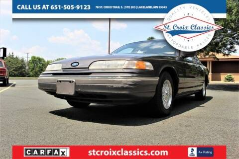 1992 Ford Crown Victoria for sale at St. Croix Classics in Lakeland MN